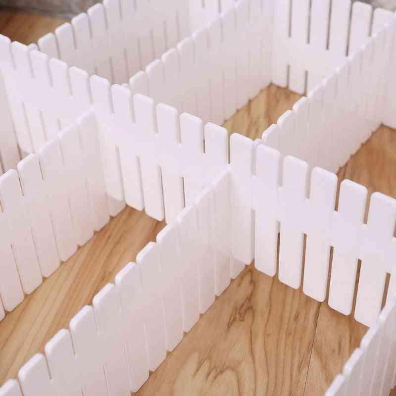 Free Combination Partition Sorting Grid, For Underwear, Socks - Plastics Storage Drawers