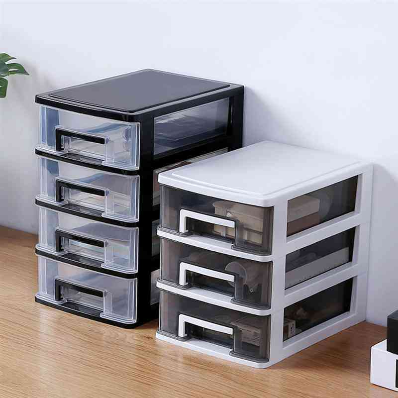 Transparent Layers Cosmetics Desktop Makeup Organizer, Storage Box, Drawer For Home Office