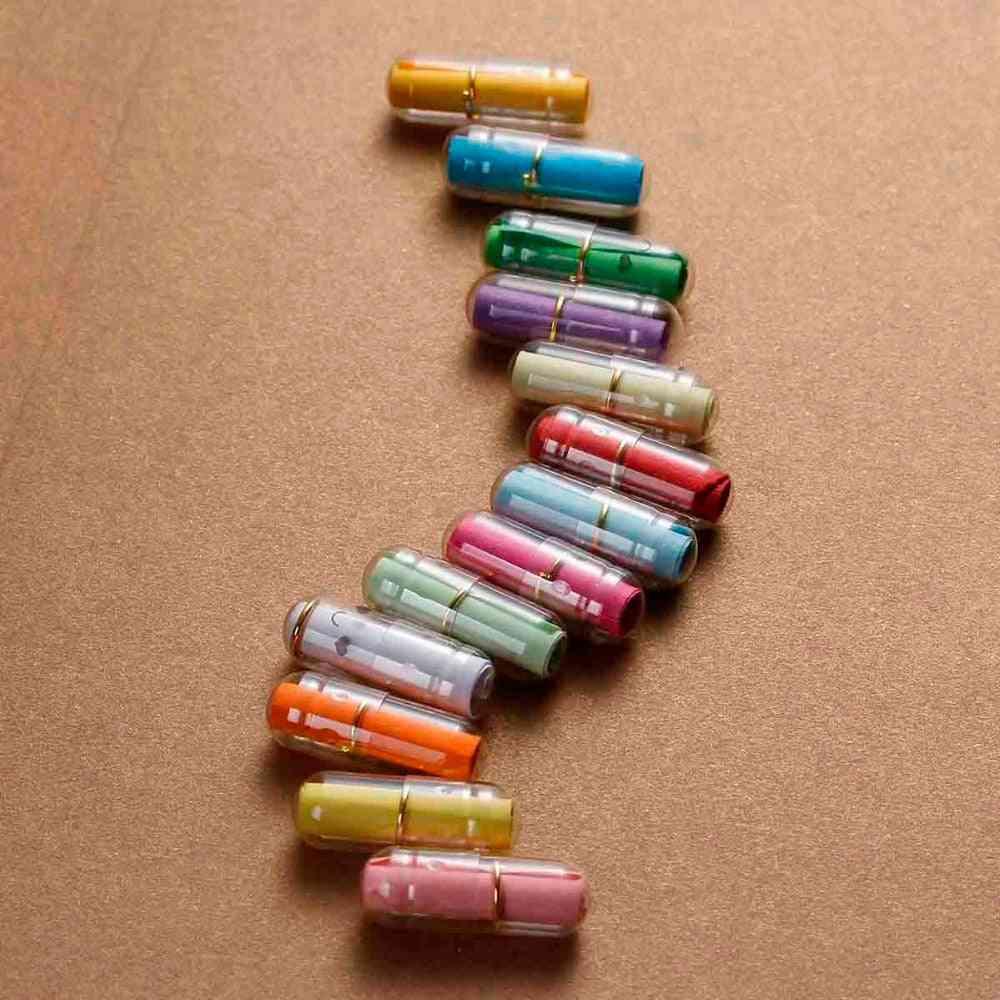 Creative Love Letter Capsule Mini Boxes, Wish Bottle With Paper Scrip