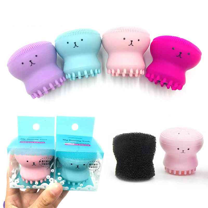 Octopus Shape, Silicone Face Cleansing Brush