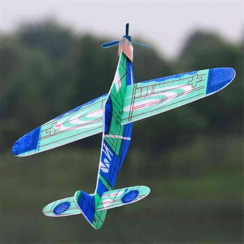 1pcs, 19cm Plastic Hand Launch Glider Plane-toys