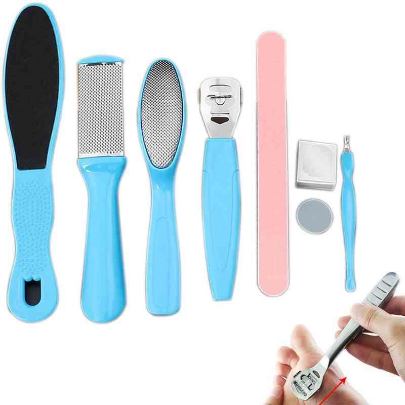 Manicure Foot Care File Set - Dead Hard Skin, Callus Remover Scraper, Pedicure Tools