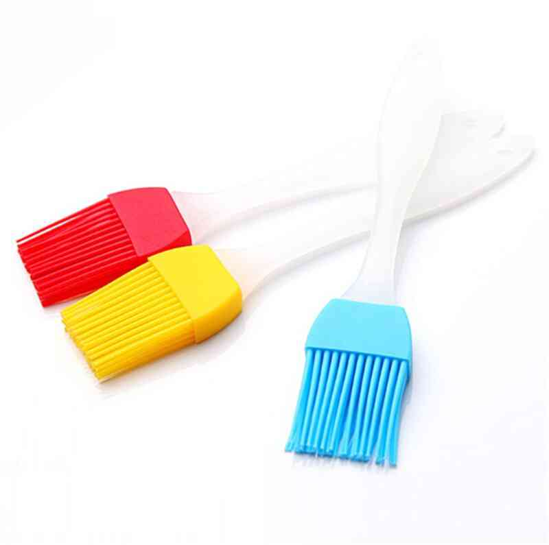 1pc Silicone Small Barbecue Brush - Heat Resistant Lint Free Kitchen Baking Tools Cake