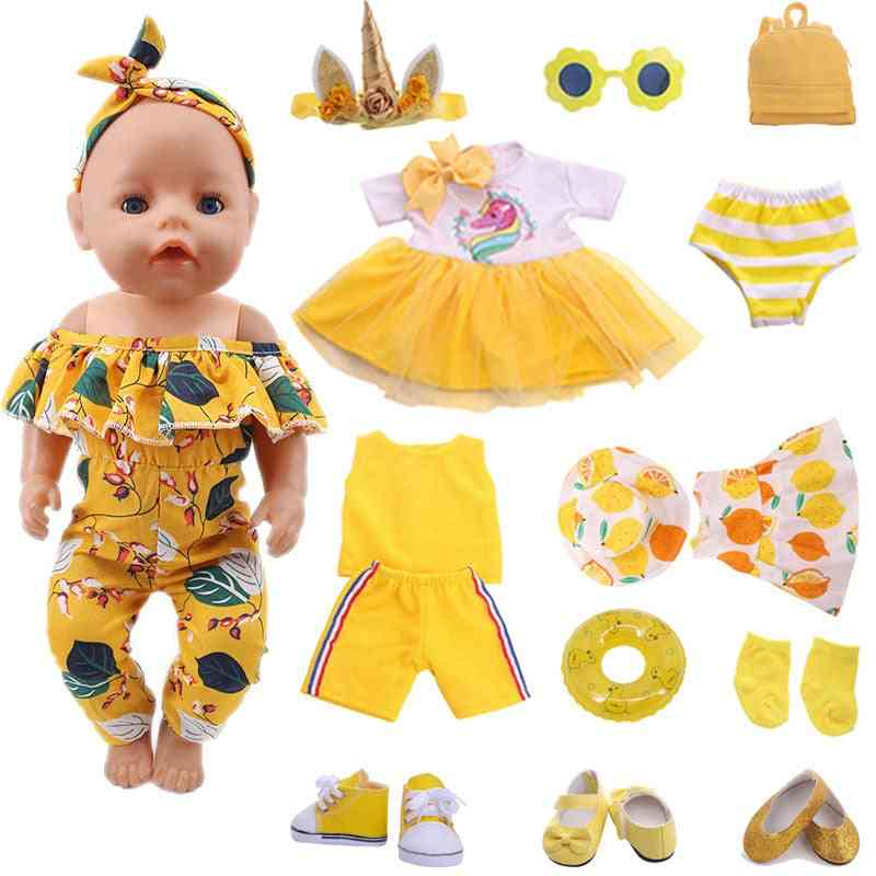 Doll Swimsuit , Shirt Suitable 18 Inch American Baby Doll And 43cm Baby New Born Doll