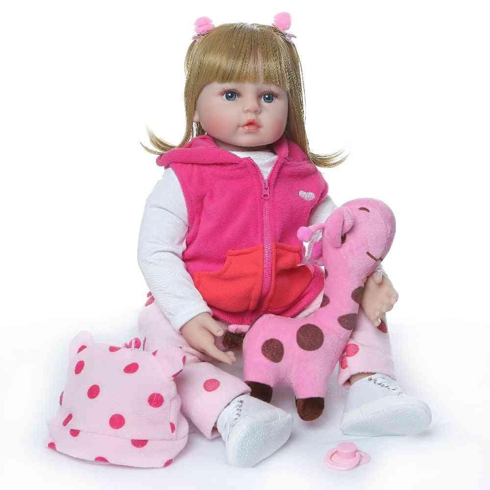 47cm Silicone Reborn Baby Doll - Adorable Lifelike Toddler Girl With Giraffe