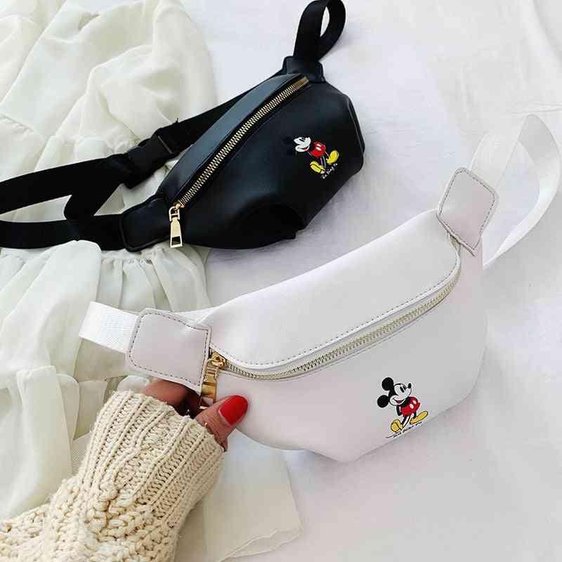 Mickey Mouse Waist Bag -women Bag Fashion , Shoulder Messenger Bag