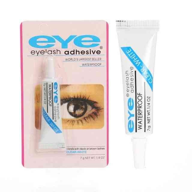 Eyelash Glue Clear White/dark Black, Waterproof Makeup Adhesive Cosmetic Tools