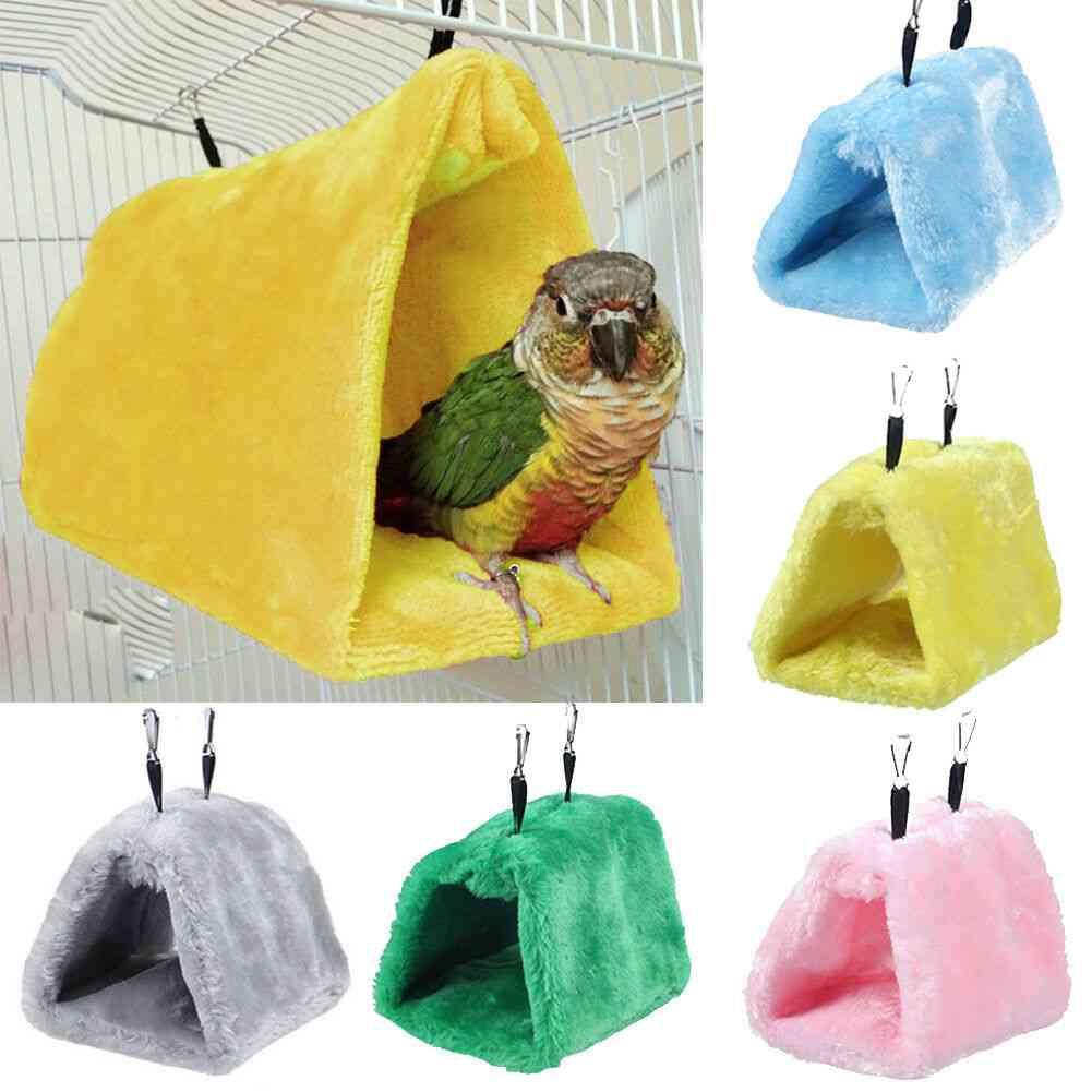 Pet Bird Parrot Parakeet Budgie Warm Hammock Cage - Soft Hut Tent Bed Hanging Cave