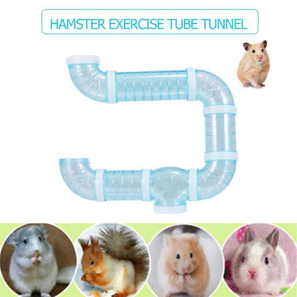 Diy U Type Plastic Pipe Line Tube Training Playing Connected External Tunnel For Small Animal Hamster Cage