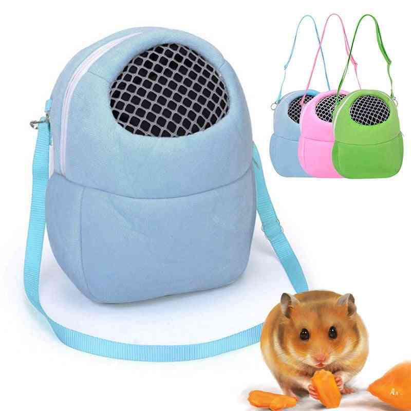 Portable Small Animals Carrier Warm Sleeping Breathable Travel Hanging Bag Pets Rat Hamster