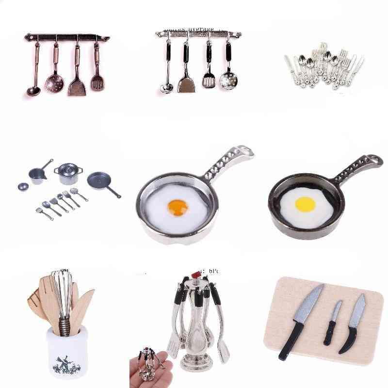 Wooden Knife And Fork Metal Whisk Jar Set