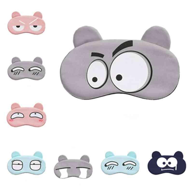 Cartoon Face Sleep Eye Mask - Cute Blindfold Cover For Sleeping