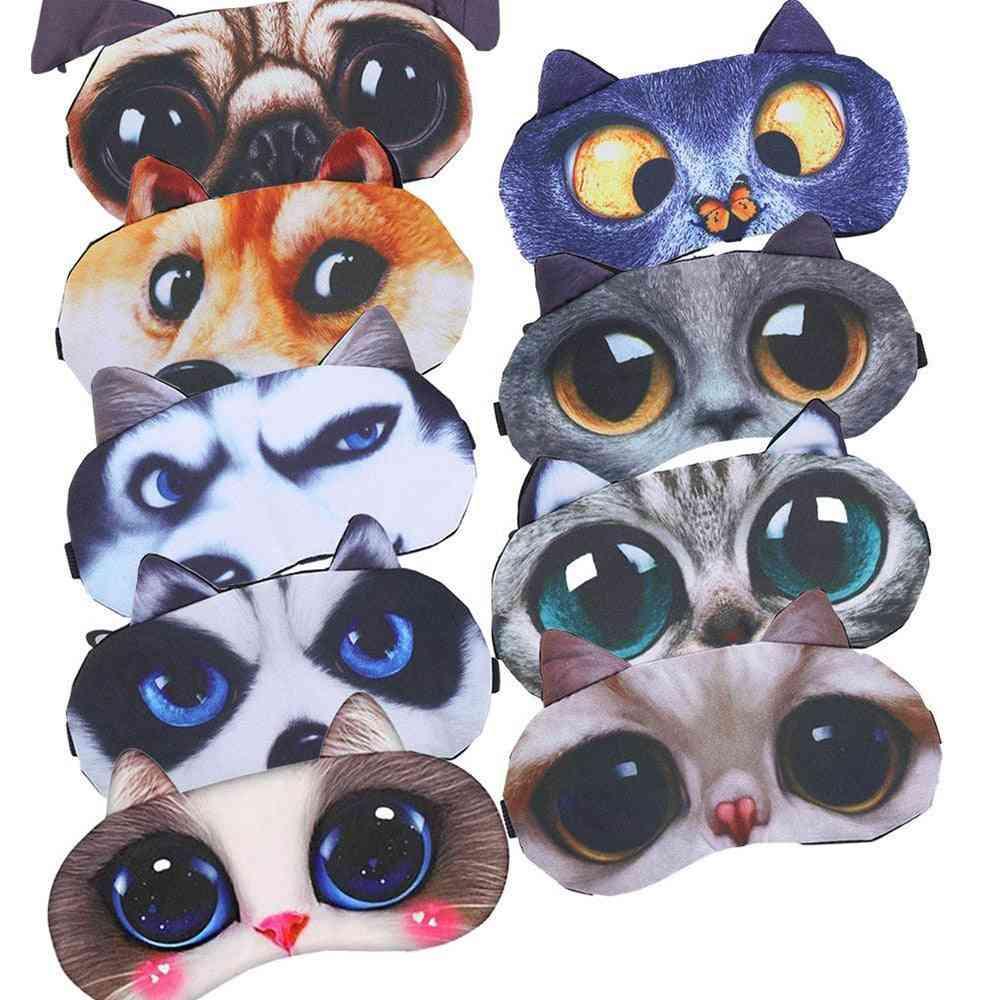 Cute 3d Sleep Mask - Soft Portable Blindfold Eye Mask For Sleeping