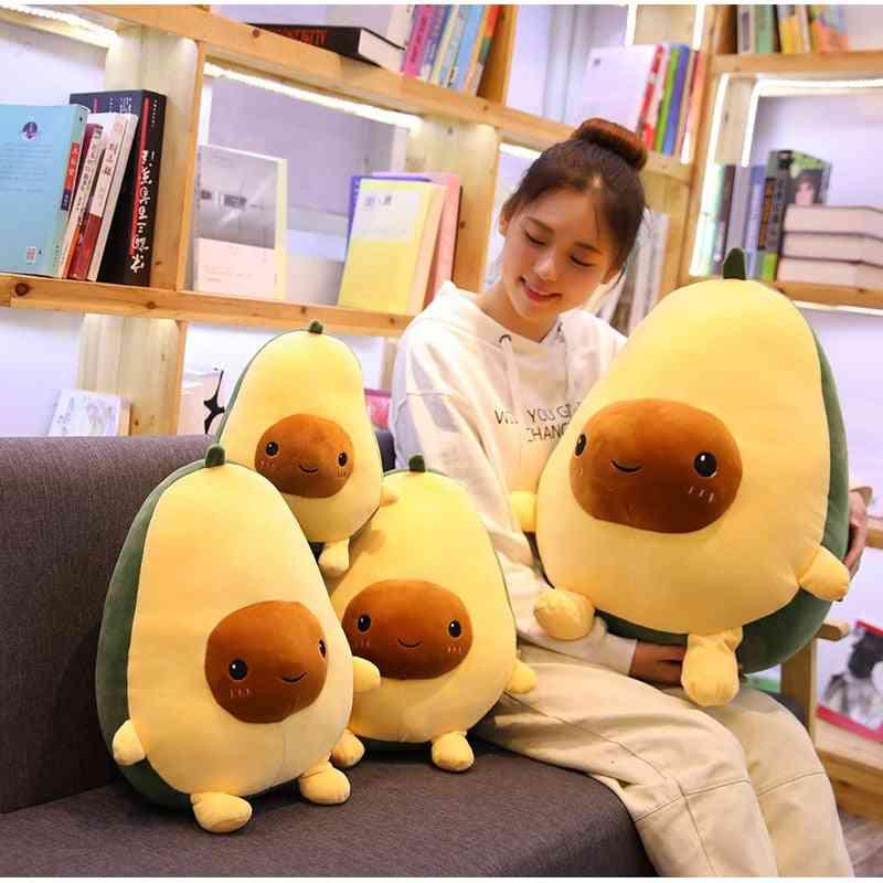 Cute Avocado Stuffed Plush Toy, Soft Baby Doll Cartoon Fruit Pillow Sofa Cushion