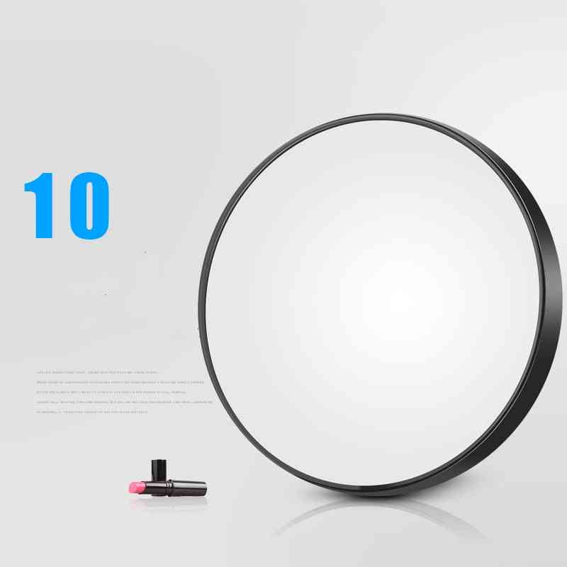 5/10x Magnifying Round Mirror With Two Suction Cups - Cosmetics Magnification Mirror