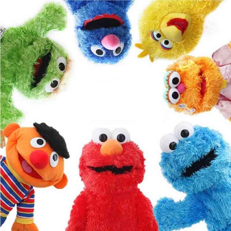 Sesame Street Hand Puppet Show, Large Elmo Cartoon Soft Plush Doll Birthday