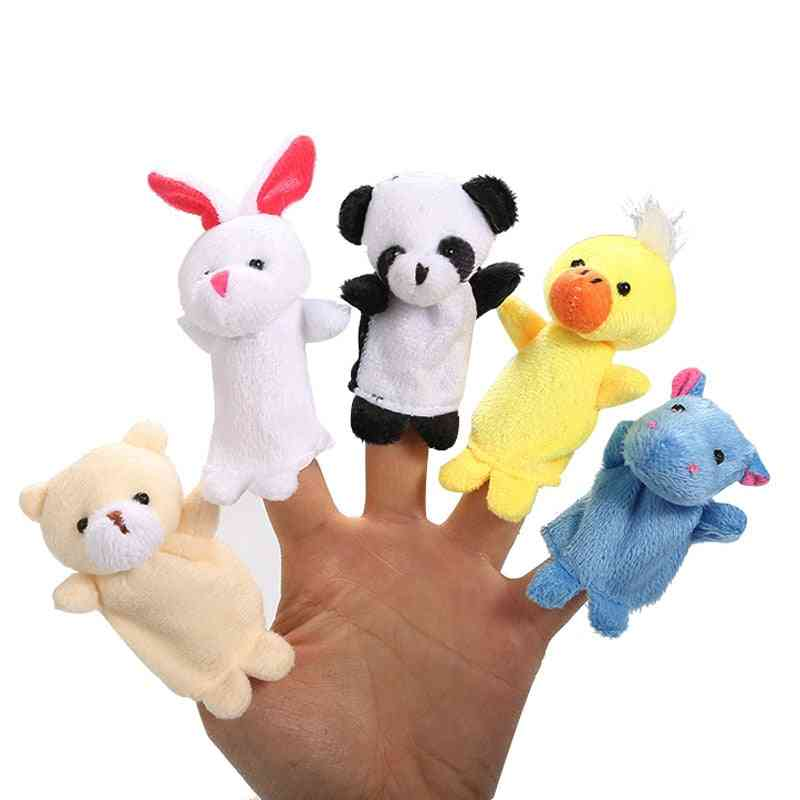 Cartoon Boy Girl Finger Puppet, Animal Child Cute Dolls Telling Stories To The Baby
