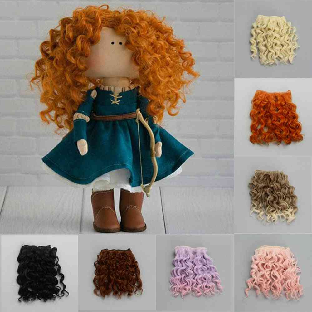High Quality Screw Curly Hair Extensions For All Dolls, Hair Wigs Heat Resistant Fiber Hair Wefts