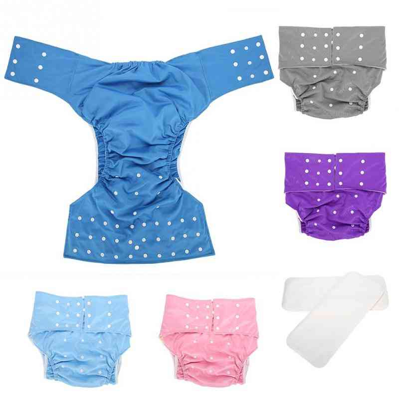 Washable Adult Pocket , Nappy Cover , Adjustable Reusable Diaper