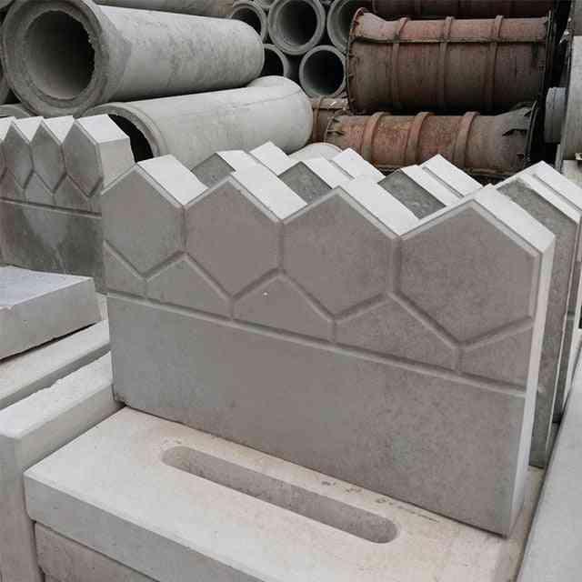Garden Diy Decor Pave Making Plastic Reusable Antique Cement Brick Mold