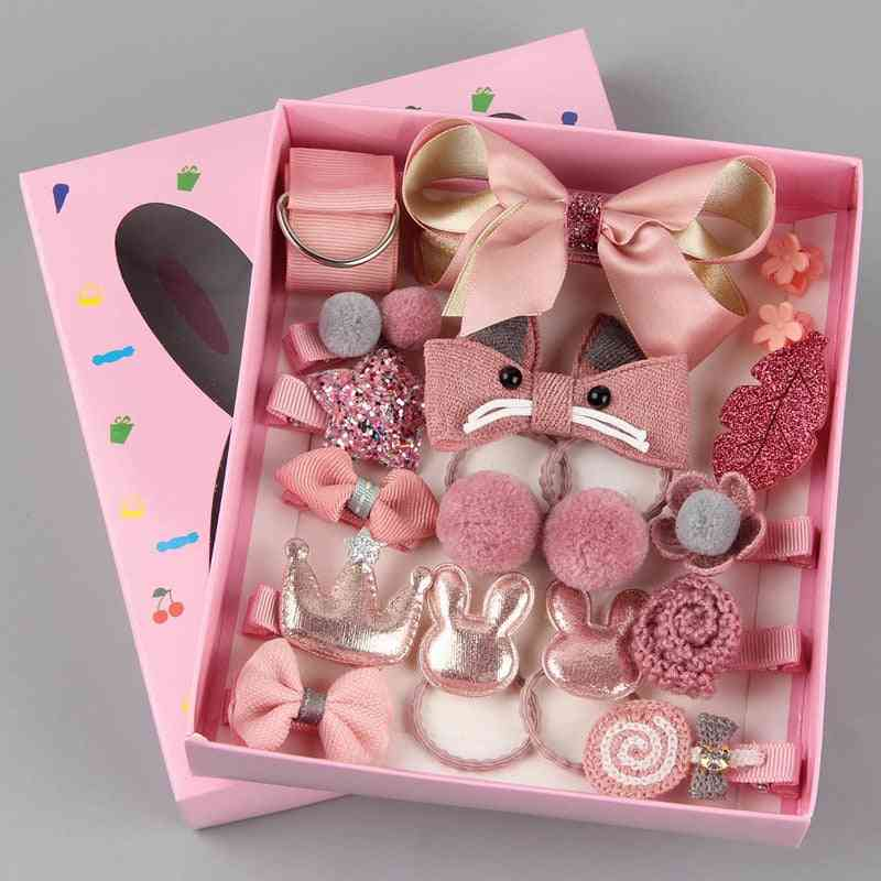 18pcs Hair Clip, Head Wearbox-accessories For Doll