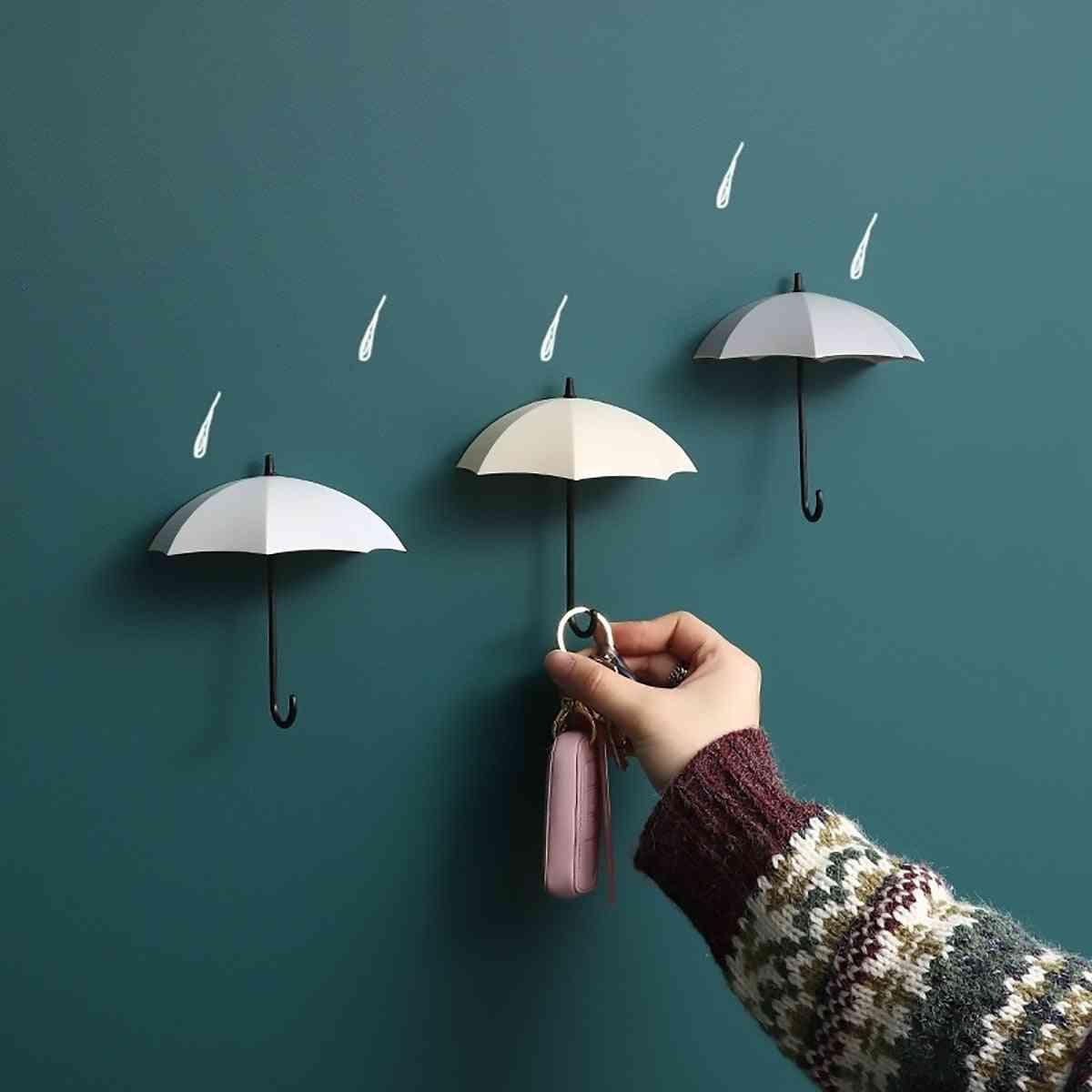 Creative Umbrella Shaped Storage Hook- Small Decorative Home Decor Wall Hook, Key Hair Pin Holder