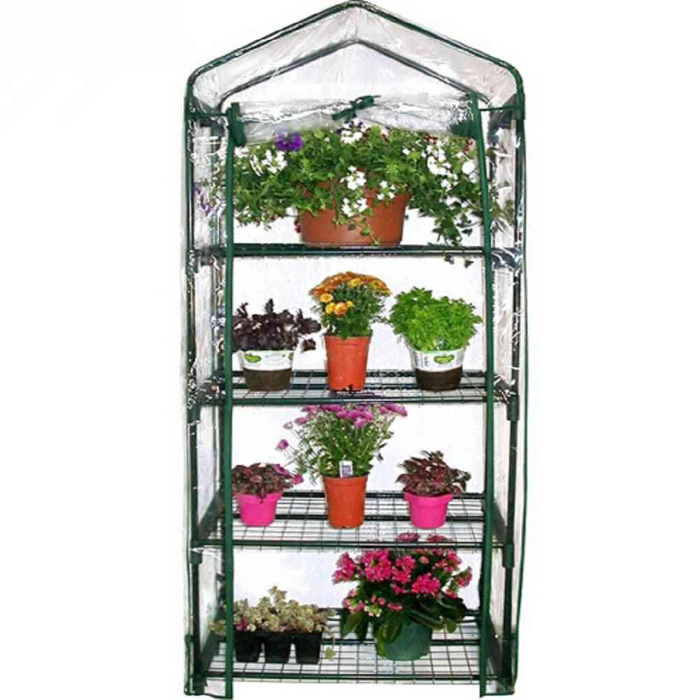Anti-uv Four Floors Plant Mini Garden Waterproof Greenhouse Cover