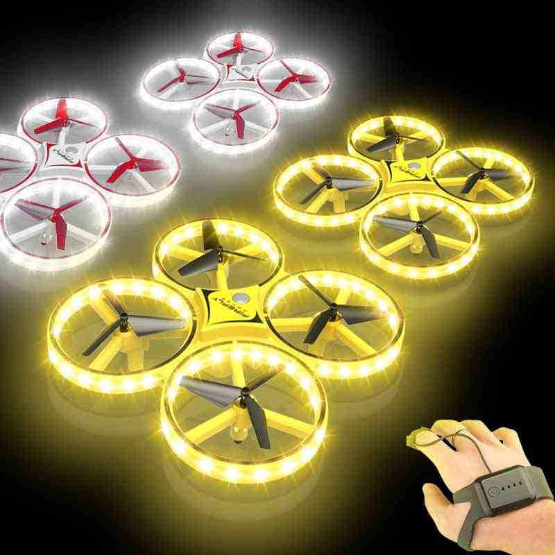 Flying Watch Gesture Helicopter - Ufo Rc Drone , Electronic Quadcopter Interactive Induction Drone Kids Toy