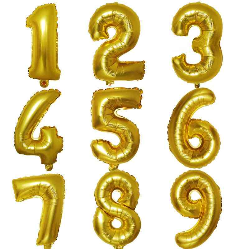 40 Inch Aluminum Foil-numbers Balloon