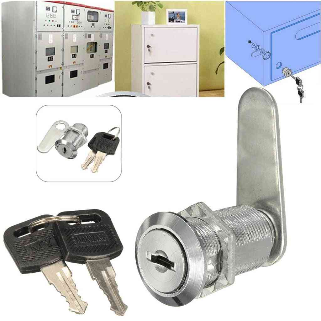 Durable Metal Cam Lock With Key For For Letter Box, Mailbox, Drawer, Cupboard