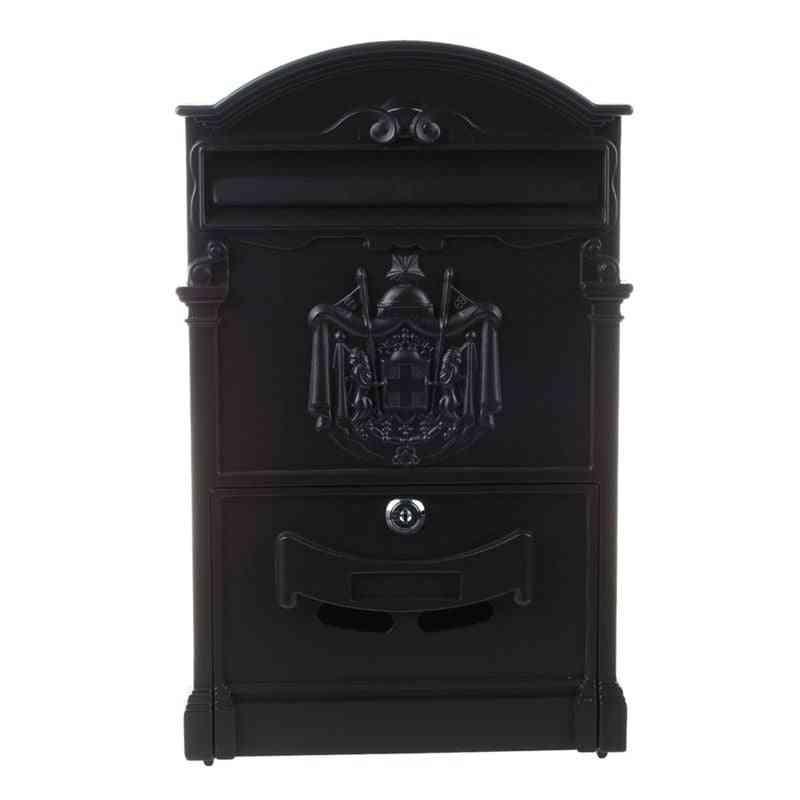 Heavy Aluminium Lockable Secure Mail Letter Retro Post Box/mailbox
