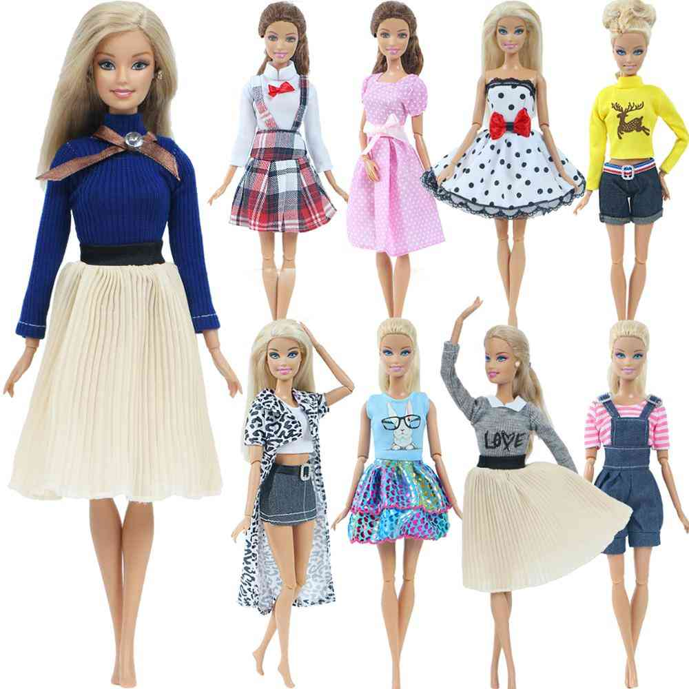Dress Shirt, Grid, Skirt Daily Casual Wear Accessories Clothes For Barbie Doll