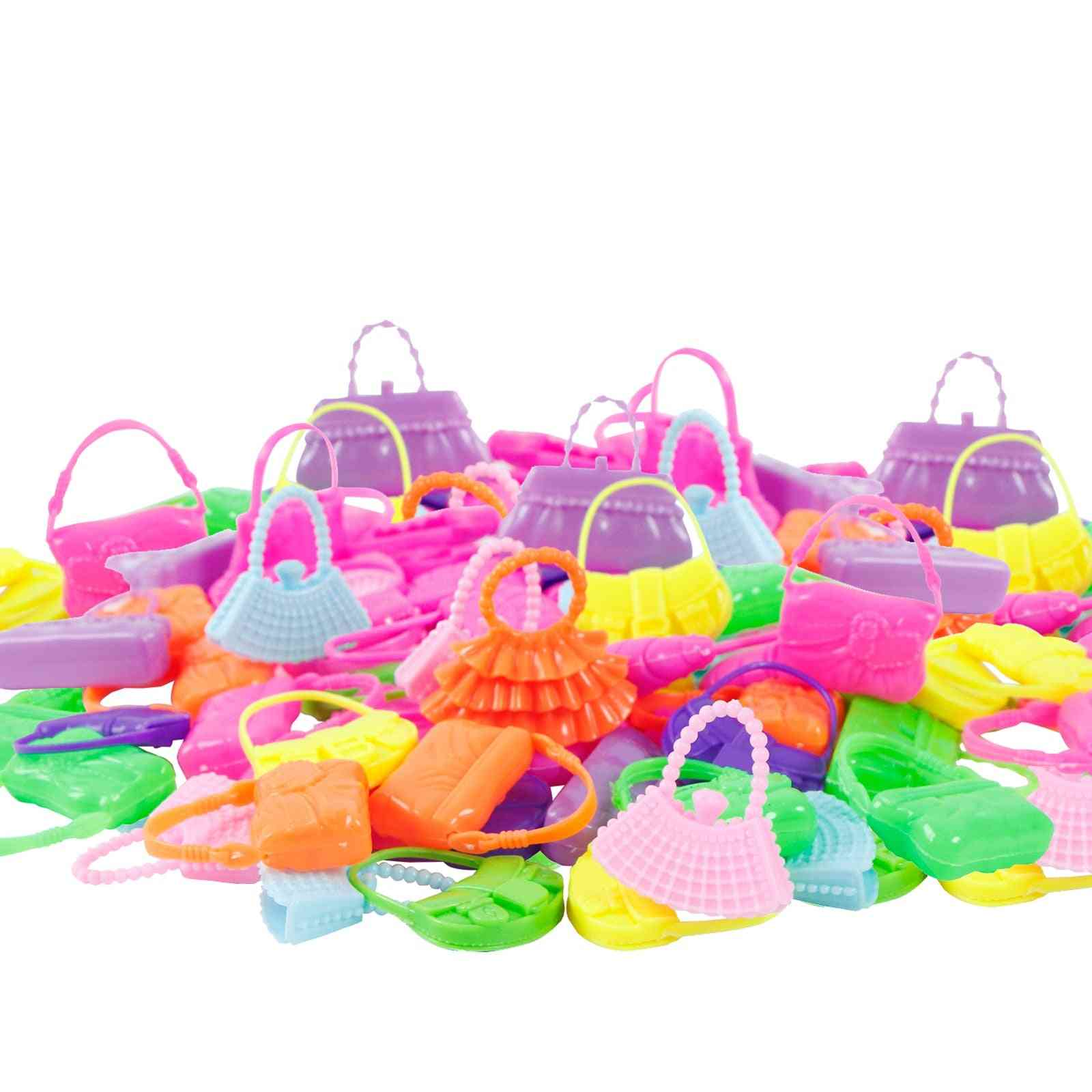 Doll Accessories - Mix Fashion Cute Dress, Glasses, Necklace, Handbag, Shoes For Barbie Doll