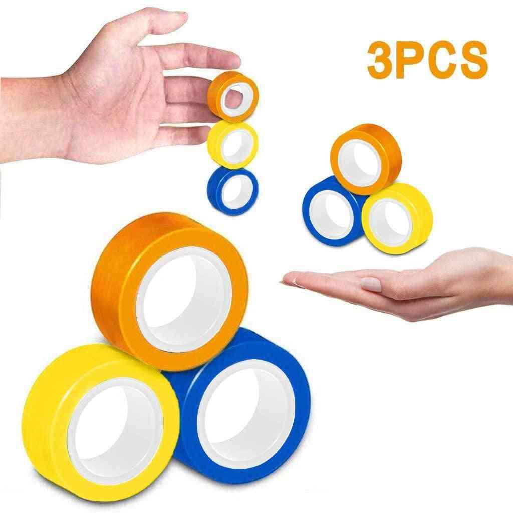 New Antistress Magnetic Ring Magic Props, Decompression