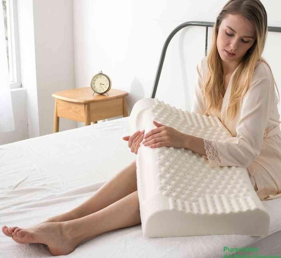 Thailand Pure Natural Latex Neck Protect Vertebrae Health Care Orthopedic Pillow
