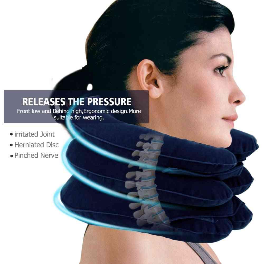 U Neck Air Inflatable Cervical Brace Neck Shoulder Pain Relax Support Massage Pillow