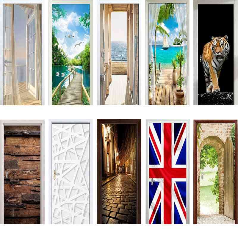 3d Door Wrap Wall Sticker/mural Wallpaper Poster