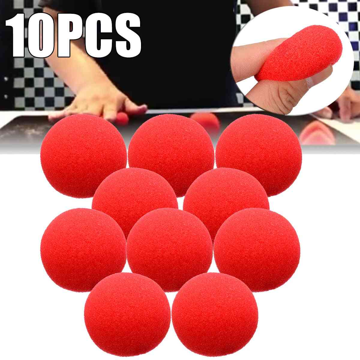 Adorable Red Ball, Super Soft Sponge Balls For Magic Party Stage Trick, Prop Clown Nose
