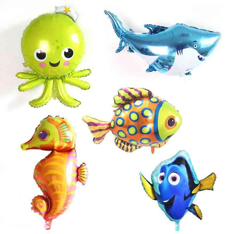 Aluminum Film's Toy Oceans Modeling Octopus Great White Shark Balloon Cartoon