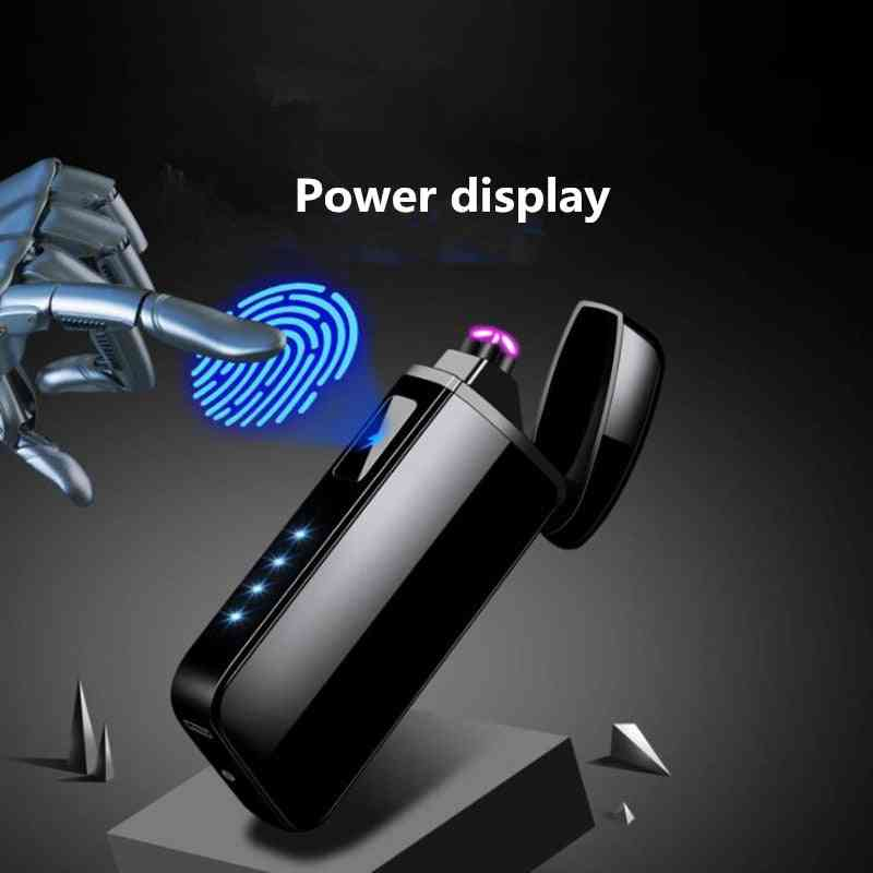 Usb Charging Double Arc Plasma Windproof Flameless Electronic Lighter