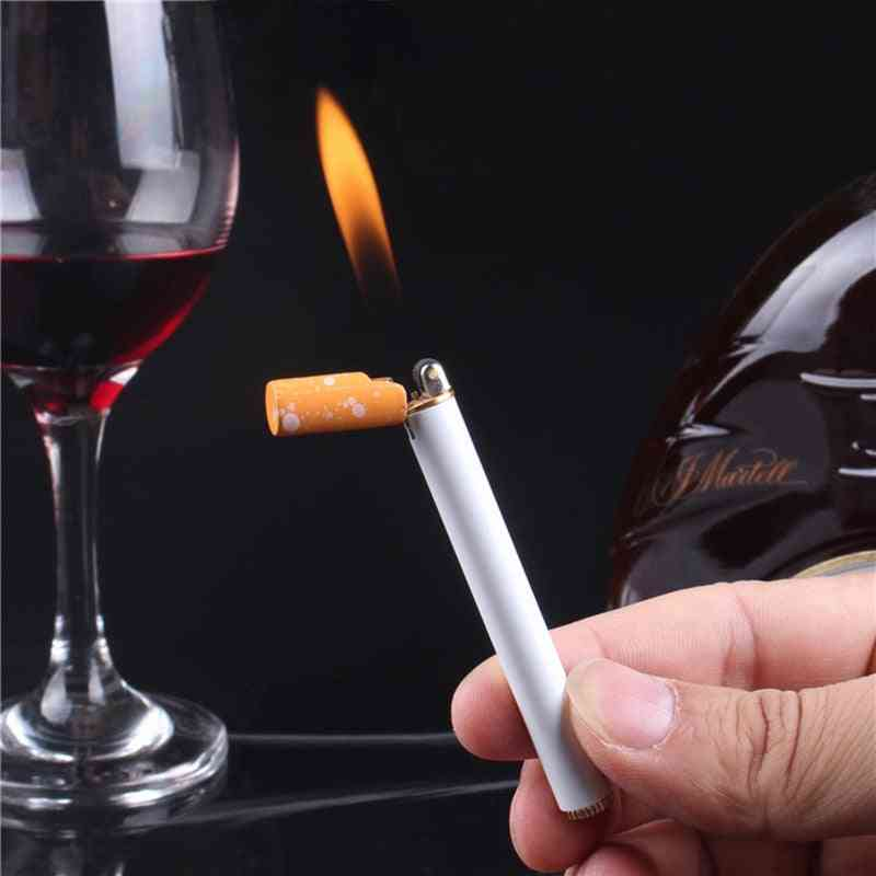 Creative Mini Compact Torch, Butane Gas Metal Cigarette Shaped Lighter
