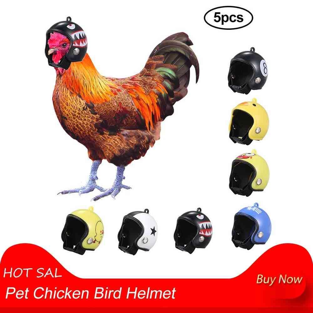 Pet Chicken Bird Helmet, Small Pet Hard Hat, Headgear Toy, Bird Protect Cap