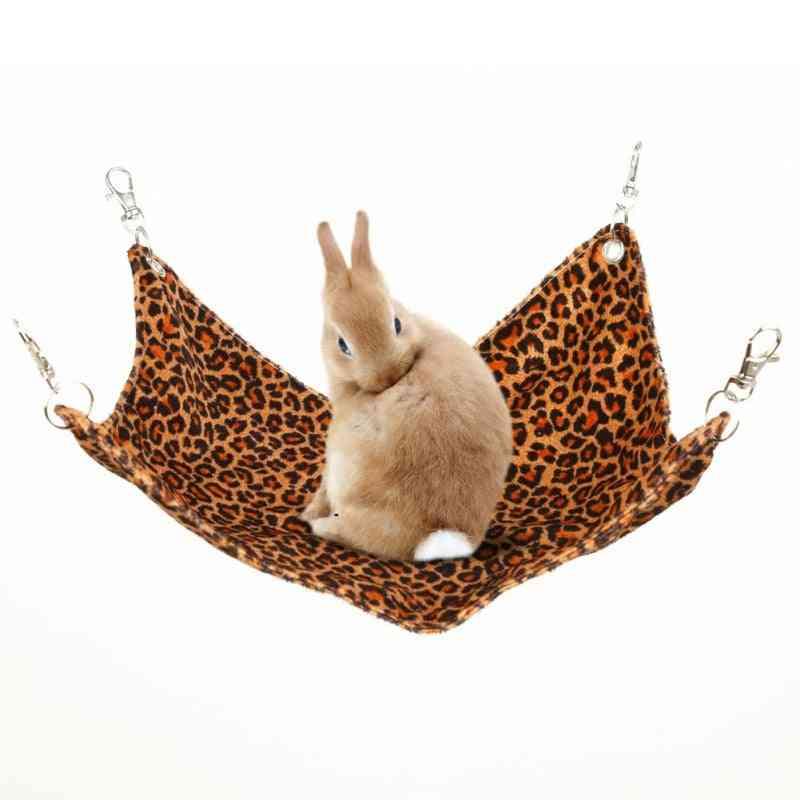 Pet Hammock Hamster Hang Mat, Hanging Bed Seat, Chinchilla Rabbit Cage For Sleeping
