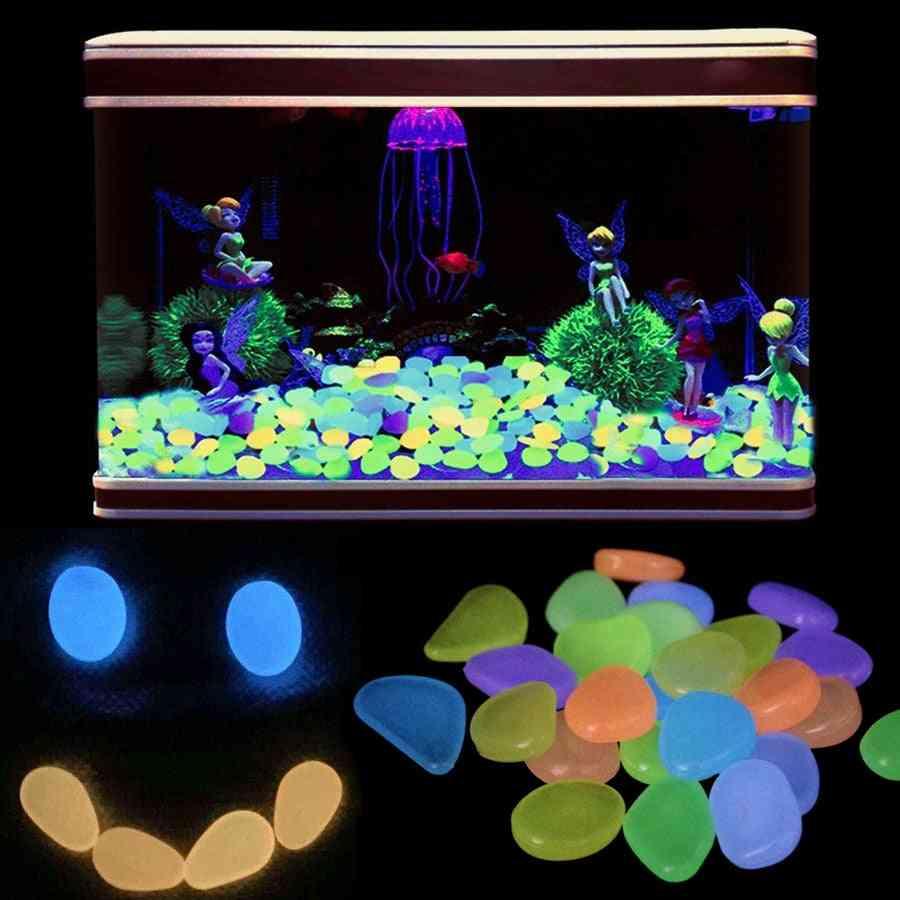 Luminous Aquarium Pebbles, Stones For Fish Tank Decoration