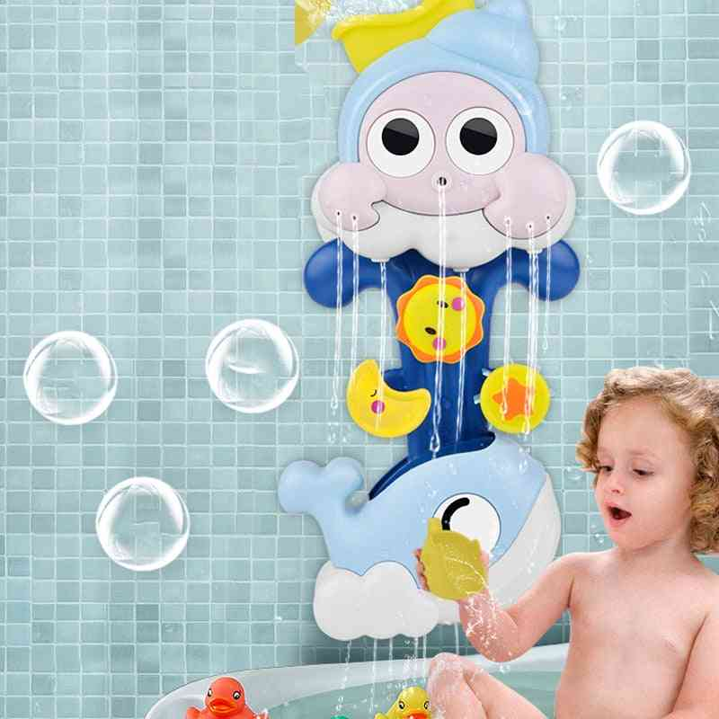 Water Spray Snail Whale Bath Toy For Toddlers Newborns Games Squirting Sprinkler, Bathroom Baby Bath Shower Kids