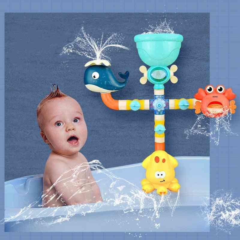 Game Shark, Crab, Octopus Bath - Pipeline Water Spray Shower For