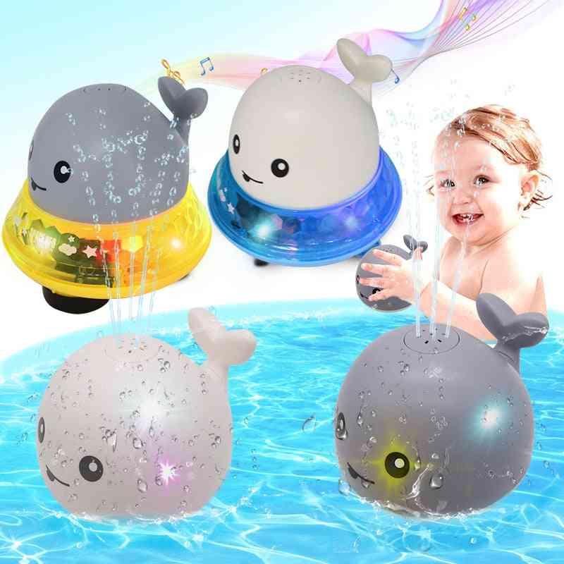 Whale Shape Led Light Creative Water Spray Ball Baby Bath