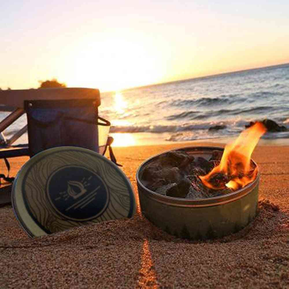 Reusable Campfire Pot Portable Outdoor Garden Easy Lighting Fire Pits, Travel Camping Tank Heating Fire Box