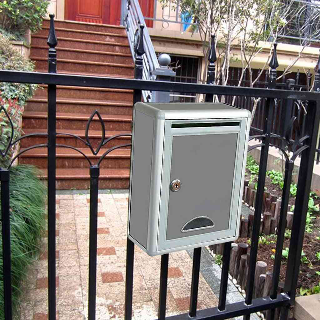 Metal Security Locking Mailbox, Letter Box, Suggestion Box, Newspaper