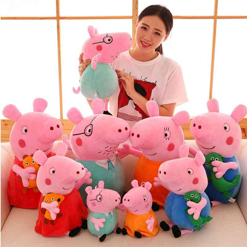 Cute Peppa Pig George Family Plush Toy Stuffed Doll - Party Decorations Peppa Pig Ornament Keychain For